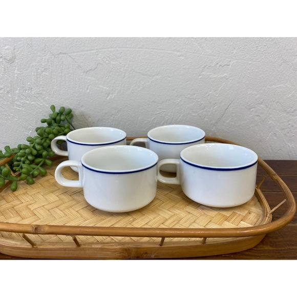 Set of 4 Mid-Century American Airlines Coffee Cups